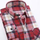 Long-sleeve Flannel Plaid Shirt