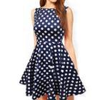 Dotted Sleeveless Dress