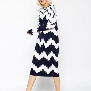 Printed Midi Knit Dress