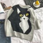 Cat-patterned Sweater