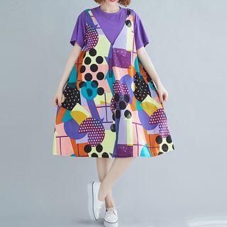 Midi Printed Jumper Dress Multicolor - One Size