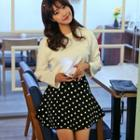 Polka-dot A-line Mini Skirt