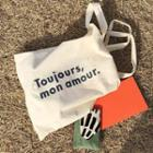 Lettering Canvas Tote Bag Off-white - M