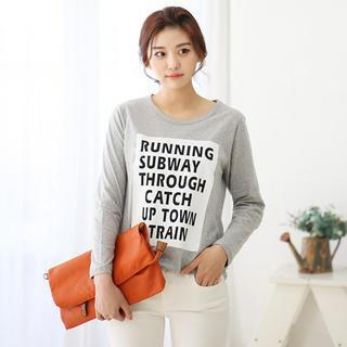 Lettering Long-sleeve T-shirt