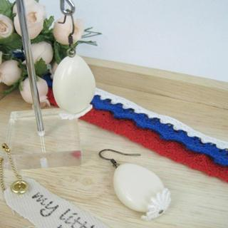 Elegant Lace Bead Earrings(ivory)