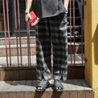 Plaid Straight Cut Pants