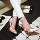 Faux-leather Printed Stilettos