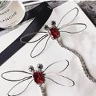 Gemstone Dragonfly Earrings