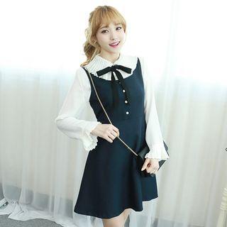 Sleeveless Tie-back A-line Dress