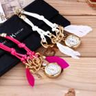 Feather Chained Bracelet Watch