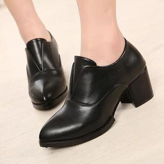 Chunky-heel Pumps
