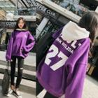 Color Panel Lettering Hoodie
