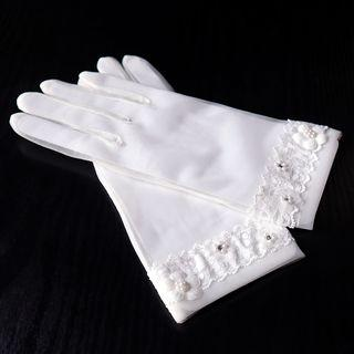 Wedding Floral Gloves As Shown In Figure - One Size