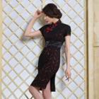 Short-sleeve Lace Cheongsam