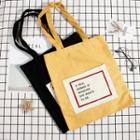 Canvas Letter Printed Tote Bag