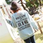 Lettering Fleece Sweatshirt