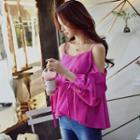Long-sleeve Cutout A-line Top