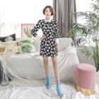 Contrast-trim Floral Print Minidress