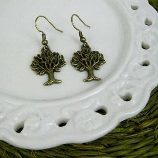 Copper Little Tree Earrings Copper - One Size