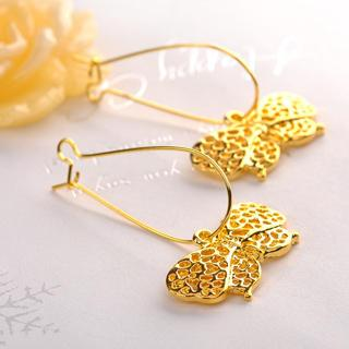 Bow Earrings  Gold - One Size