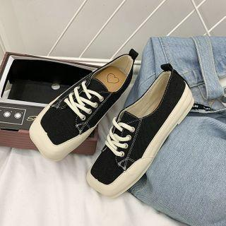 Square-toe Sneakers