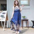 Sleeveless Patterned Maxi Dress