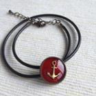 Black Sailor Double Bracelet One Size