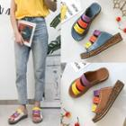 Colored Strap Platform Sandals