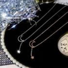 Alloy Moon & Star Pendant Necklace