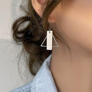 Geometric Shell Alloy Dangle Earring