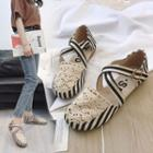 Perforated Striped Flats