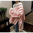 Hooded Long-sleeve Striped Top
