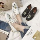 Studded Embroidery Loafers