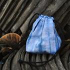 Tie-dyed Drawstring Pouch Blue - One Size