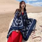Patterned Knit Shawl