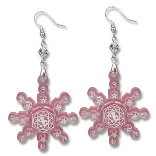 Sweet&co. Pink Snow Flurry Swarovski Crystal Earrings