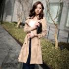 Double-breasted Trench Coat With Sash