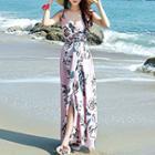 Strappy Floral Maxi Sun Dress