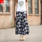 Floral Pattern Wide-leg Pants