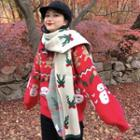 Christmas Print Sweater / Knit Scarf