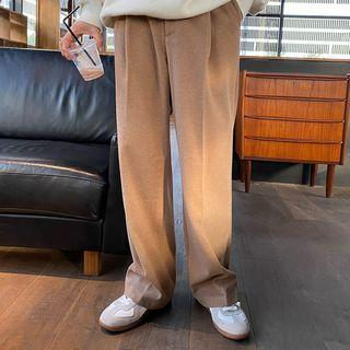 Wide Leg Wool Sweatpants