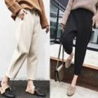 Cropped Elastic-waist Pants