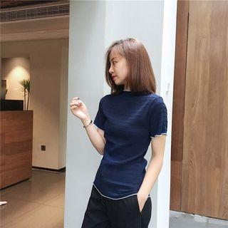 Frill Trim Short Sleeve T-shirt