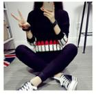 Lipsticks Print Sweater