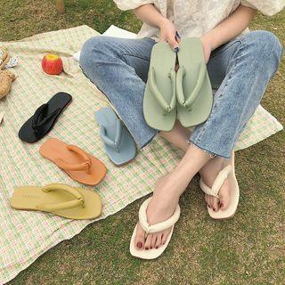 Wide Strap Flip Flops