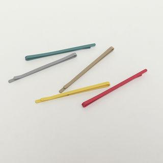 Colored Hair Pin Set Of 5 One Size