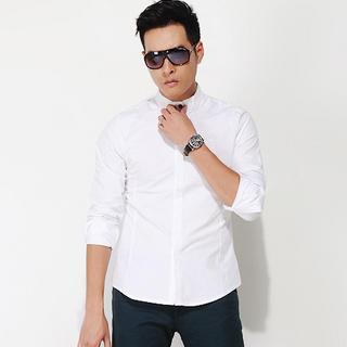 Mandarin-collar Shirt