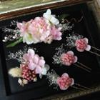 Bridal Set: Flower Hair Clip + Hair Pin