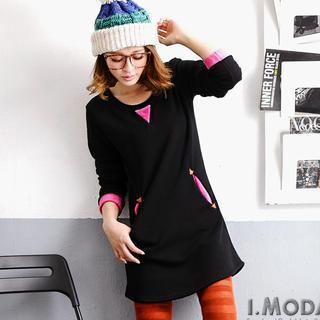 Color-block Pullover Dress