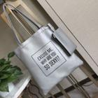 Faux Leather Lettering Tote